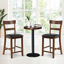Costway Set di 2 sedie con sedile alto 65 cm e