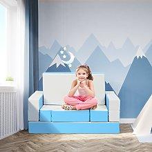 Costway Set di divano per bambini multifunzionale