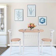 Costway Set di mobili 2 sedie e tavolo da pranzo