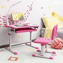 Costway Set scrivania e sedia per bambini con