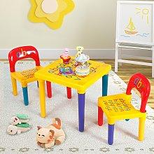 Costway Set tavolo con 2 sedie per bambini in
