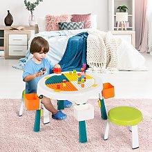 Costway Set tavolo e 2 sedie per bambini con