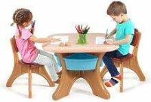 Costway - Set Tavolo e Sedie per Bambini, 1