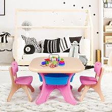 Costway Set Tavolo e sedie per bambini con