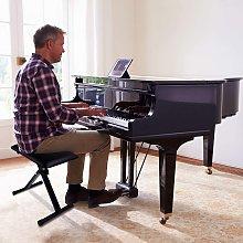 Costway Sgabello per pianoforte pieghevole Panca