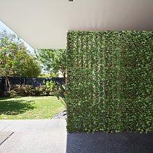 Costway Siepe retrattile ed espandibile con foglie