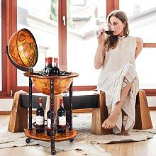Costway Supporto mappamondo porta vini girevole