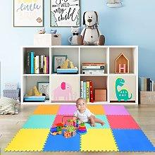 Costway Tappeto puzzle in schiuma per bambini