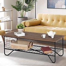 Costway Tavolino da caffè con 2 piani da salotto