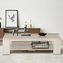 Costway Tavolino da caffè in legno da salotto