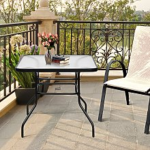 Costway Tavolino da caffè per cortile con
