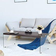 Costway Tavolino da salotto moderno con gambe in