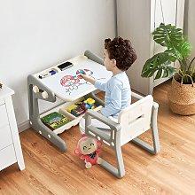 Costway Tavolino per bambini con sedia, Tavolo