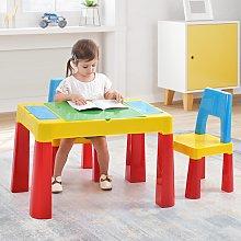 Costway Tavolo attività 3 in 1 per bambini, Set