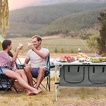 Costway Tavolo da campeggio pieghevole portatile
