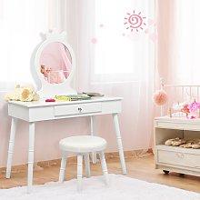 Costway Toeletta con specchio per bambini, Set