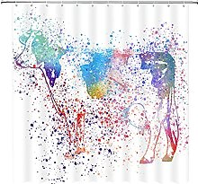 Cow tenda da doccia, rurale animale acquerello