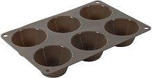Crealys 513009 - Teglia per 6 Muffin in Silicone,