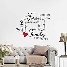 CREARREDA Adesivo murale Frasi Famose Family