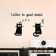 CREARREDA Adesivo murale Frasi Famose Good Music