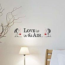 CREARREDA Adesivo murale Frasi Famose Love Is
