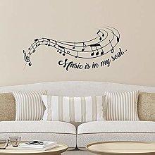 CREARREDA Adesivo murale Frasi Famose Music Is