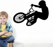 Creativo bel bambino con la bici Adesivo murale