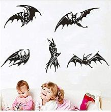 Creativo Cinque Pipistrelli Neri Stile Gotico