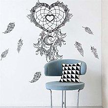 Creativo piuma Amore totem adesivi murali neri