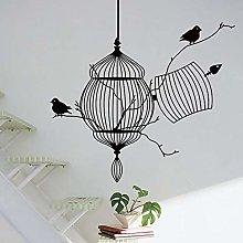 Creativo Uccelli Gabbia Ramo di un albero Adesivi