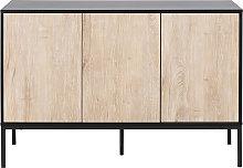 Credenza bassa industriale metallo e legno