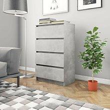 Credenza Grigio Cemento 60x35x98,5 cm in