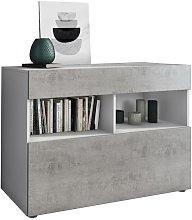 Credenzina Mobile Contenitore da Bianco e Cemento