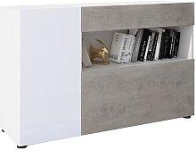 Credenzone Buffet Mobile Contenitore Bianco e