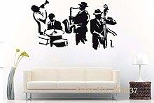 Crjzty Adesivo murale Jazz Sax Strumento Musicale