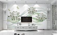 Crystal Lotus 3D TV sfondo parete-350cmx256cm