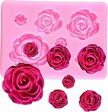 CSCZL Stampo in Silicone per Fiori di Rosa Stampo