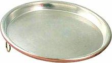 Cu Artigiana Teglia Rame Stagnato Cm 60 H 2,5