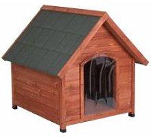 CUCCIA in Legno per cane con porta e isolamento L