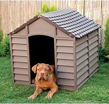 Cuccia per cani cane in pvc marrone 78x84x60/80h -