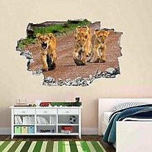 Cuccioli di leone Animali selvatici 3D Wall