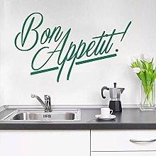 Cucina Buon Appetito Calligrafia Lettera Muro