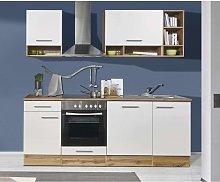 Cucina componibile design in laminato di quercia