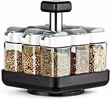Cucina rotante vetro condimento barattolo set