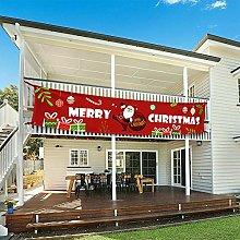 CUIFULI Grande bandierina di Natale con Babbo