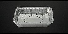 Cuki 50 Pezzi Contenitore Alluminio Rettangolare a