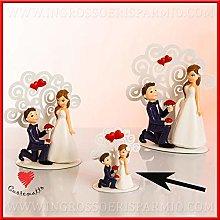 Cuorematto - Statuine sposi in resina con albero