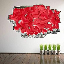 Cuori 3D Wall Art Sticker Murale Decal Poster Home