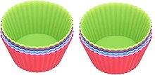 Cupcake in silicone, stampo per torta 10 pezzi con