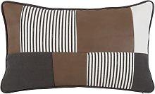 Cuscino con motivo patchwork multicolore, 30x50 cm